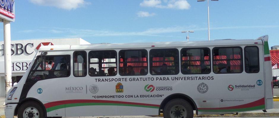 Public Bus in Playa Del Carmen
