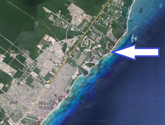 Playa Xcalacoco beach Playa Del Carmen map