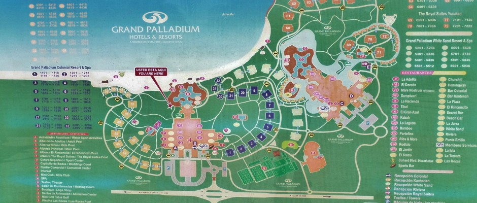 Grand Palladium Riviera Maya Mexico map