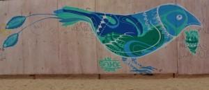 Mural of bird