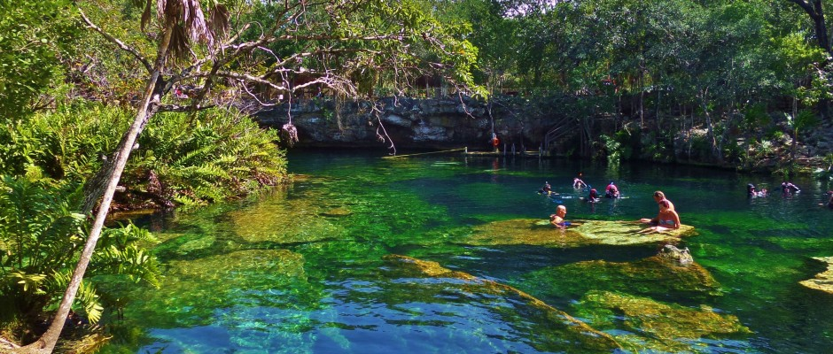 What are the best cenotes to visit from playa del carmen for El jardin del eden murcia