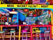 Beer Bucket Bar in Playa Del Carmen