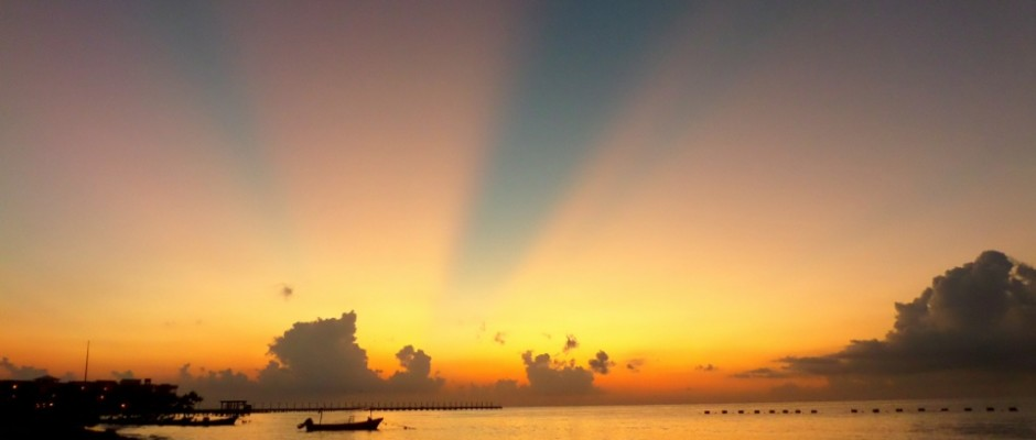 Sunrise in Playa Del Carmen