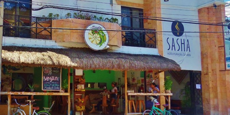 La Senda vegetarian restaurant in Playa Del Carmen