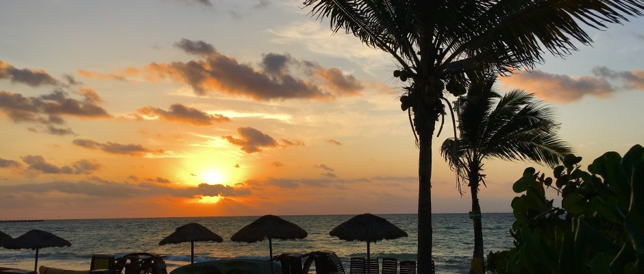 Sunrise in Playa Del Carmen Mexico