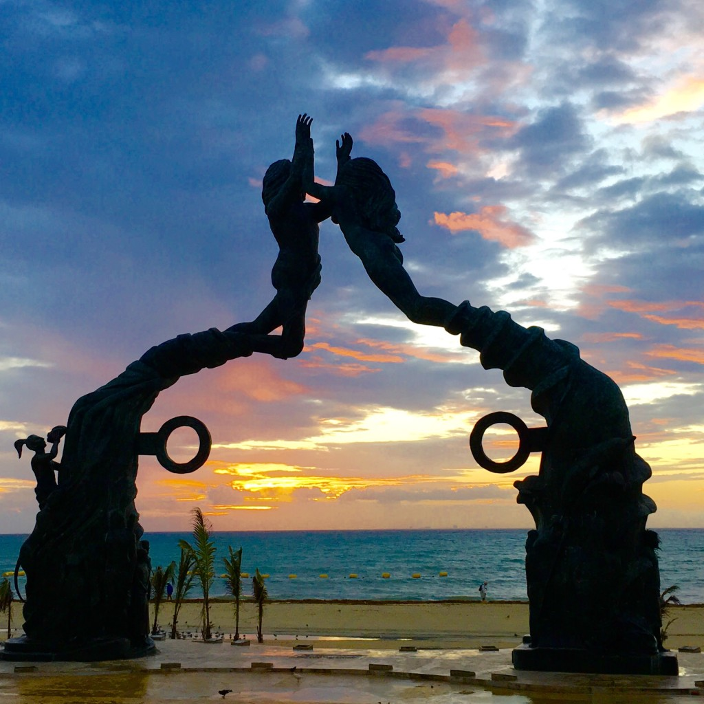 Sunrise in Playa Del Carmen, Mexico