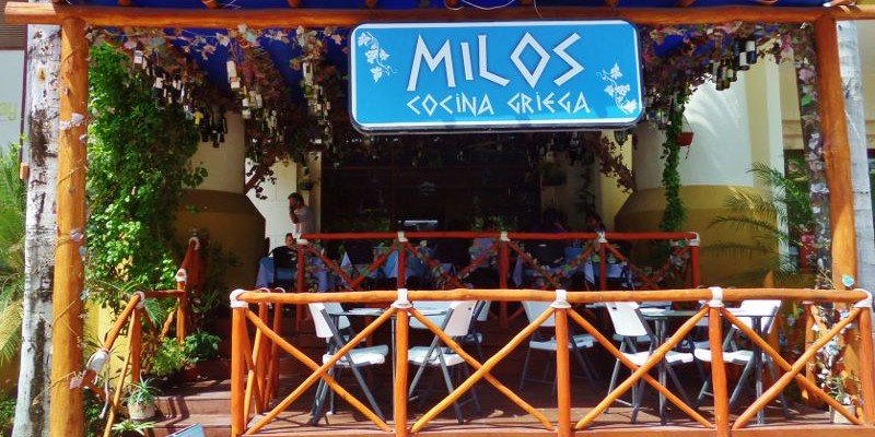 Milos Greek Restaurant Playa Del Carmen Mexico