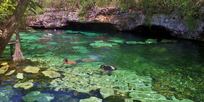 Cenote azul a great cenote for fun families and enjoying for El jardin del eden pelicula