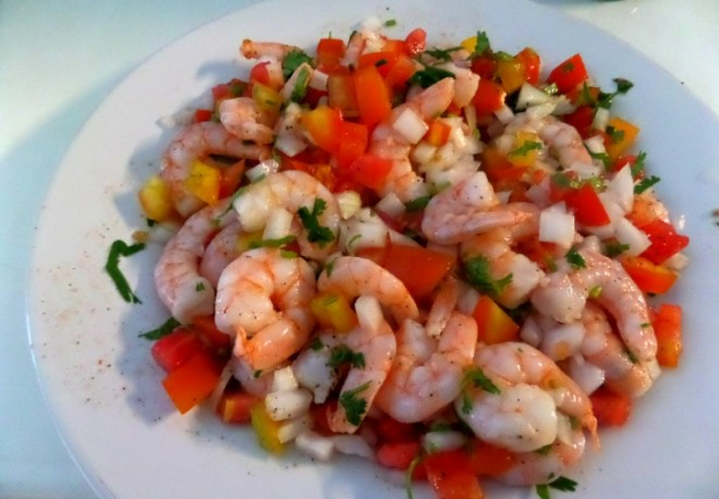 Shrimp Ceviche Playa Del Carmen