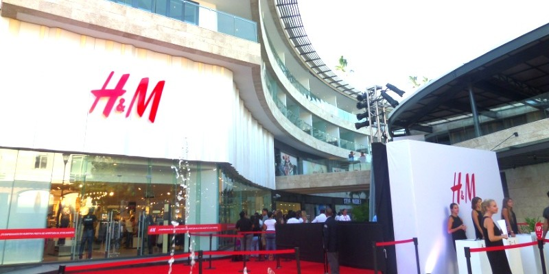 The new H&M Store in Playa Del Carmen