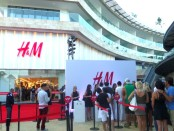Opening at H&M store in Playa Del Carmen