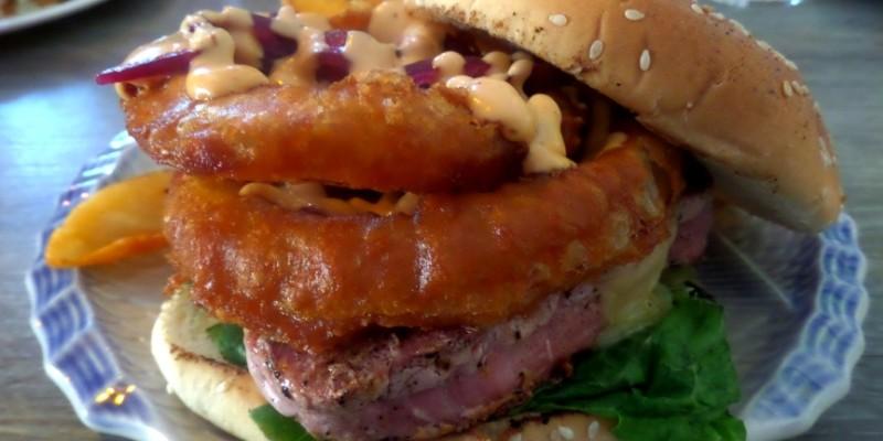 Los Hijos de la Tostada Tuna Burger in Playa Del Carmen