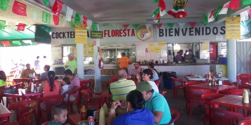La Floresta seafood restaurant Playa Del Carmen