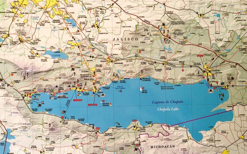 Map of Lake Chapala Mexico