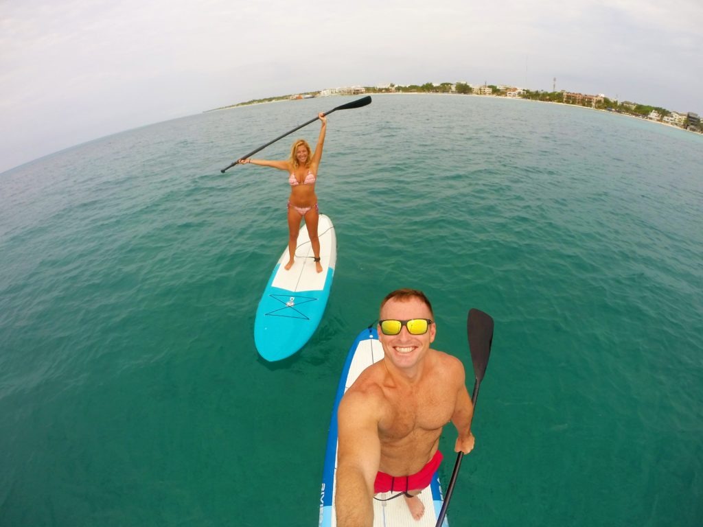 paddle boarding Playa Del Carmen
