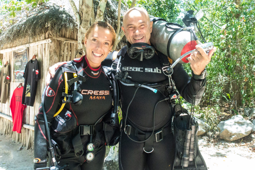 Scuba diving in Playa del Carmen Mexico with Tank Ha Dive shop