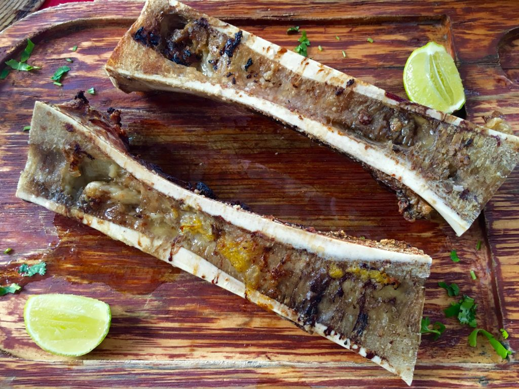Tacos de tuetano Bone marrow tacos