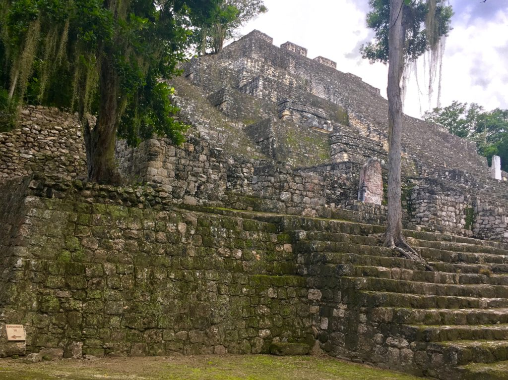 Calakmul ruins in Campeche Mexico