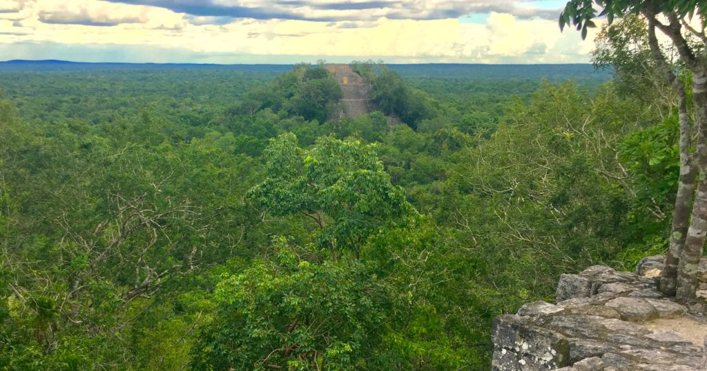 Calakmul Mayan ruins in Campeche Mexico