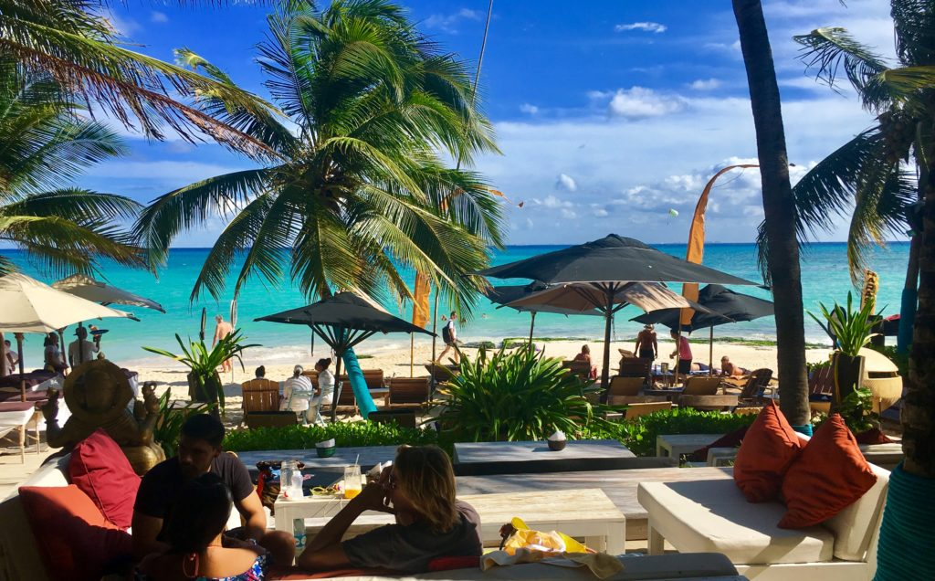 beachfront restaurants Playa Del Carmen