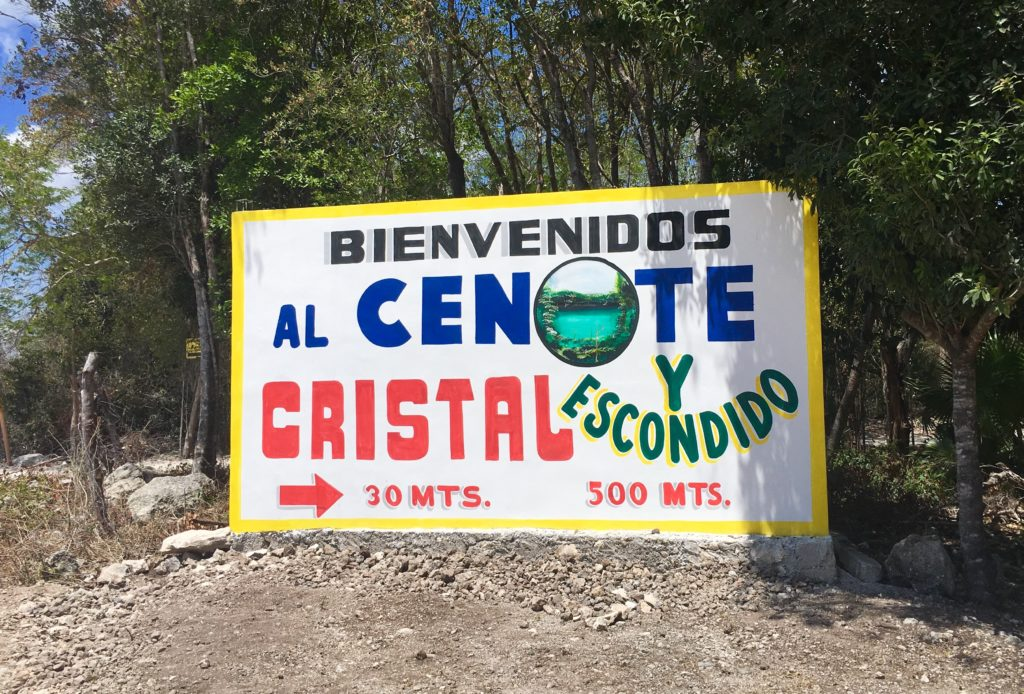 Cenote Cristal and cenote Escondido