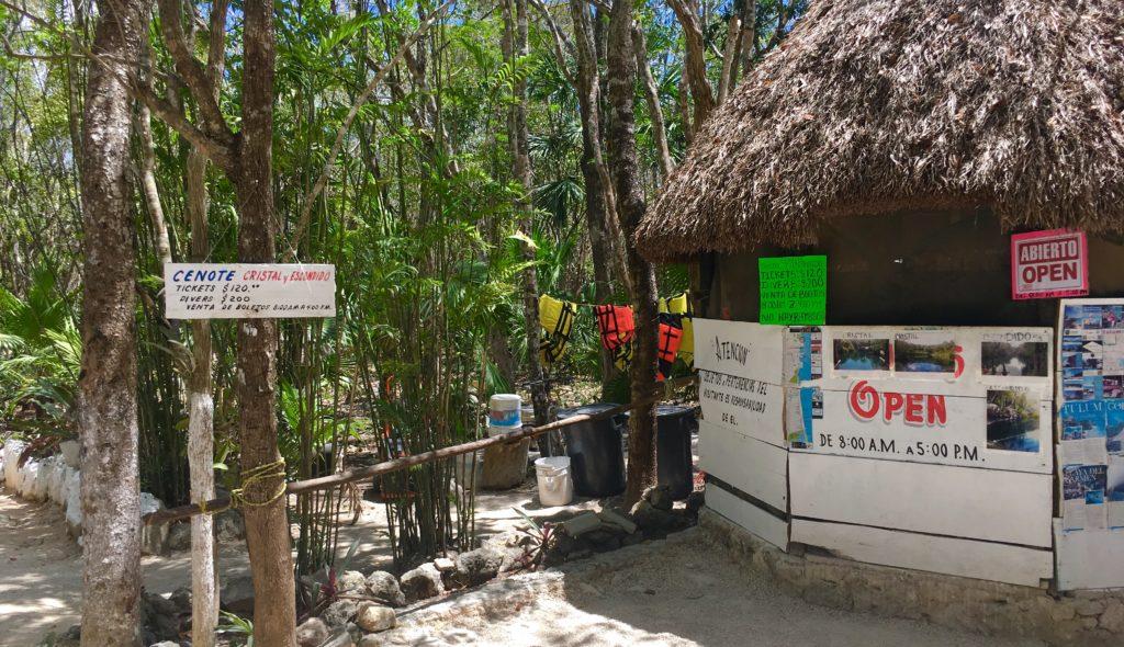 Cenote Cristal and cenote Escondido