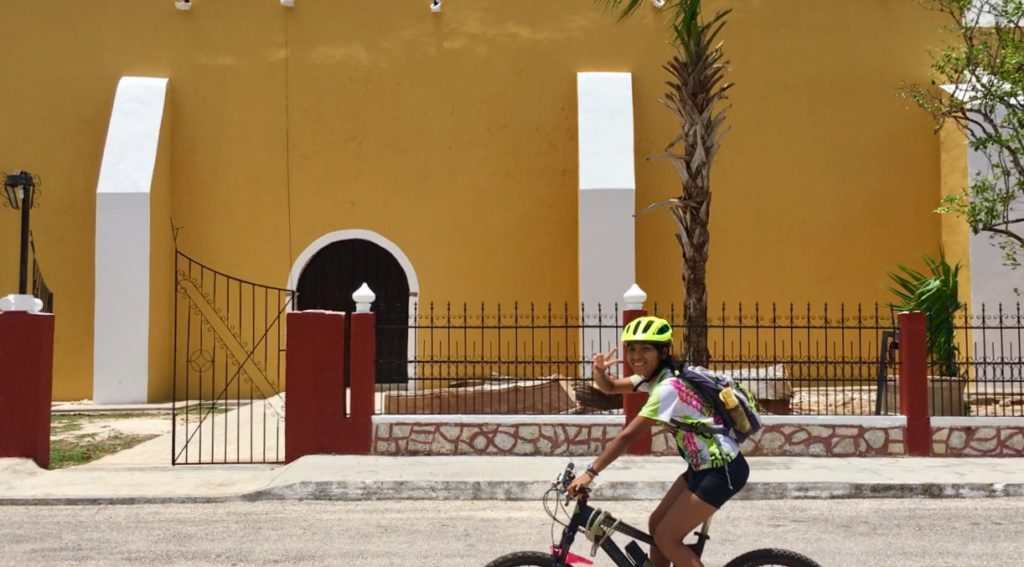 Biking yucatan Mexico tour