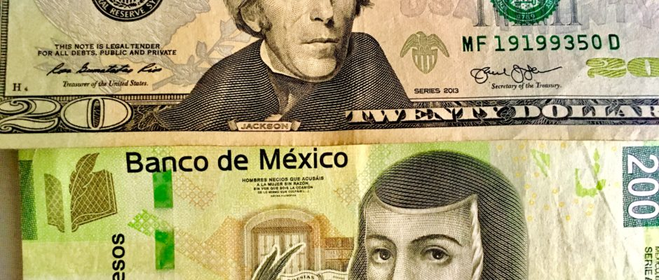 pesos or dollars in Mexico