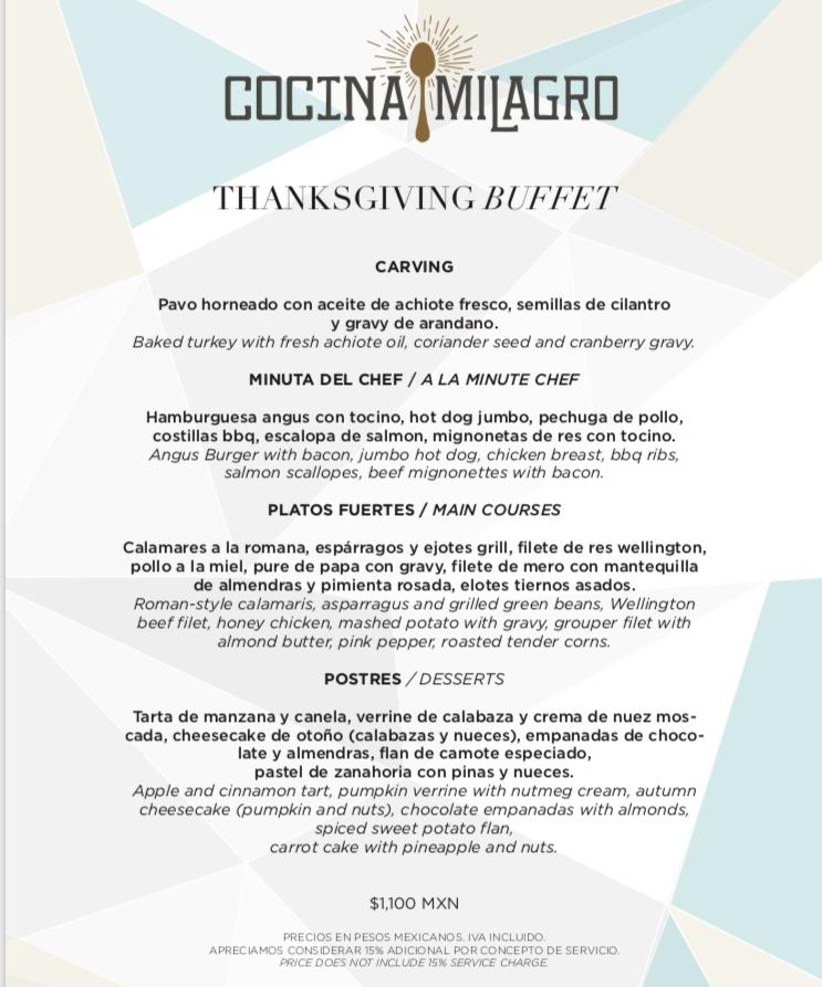 Thanksgiving Playa Del Carmen