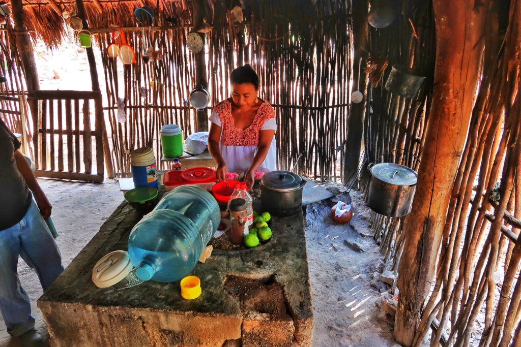 Mayan woman cooking