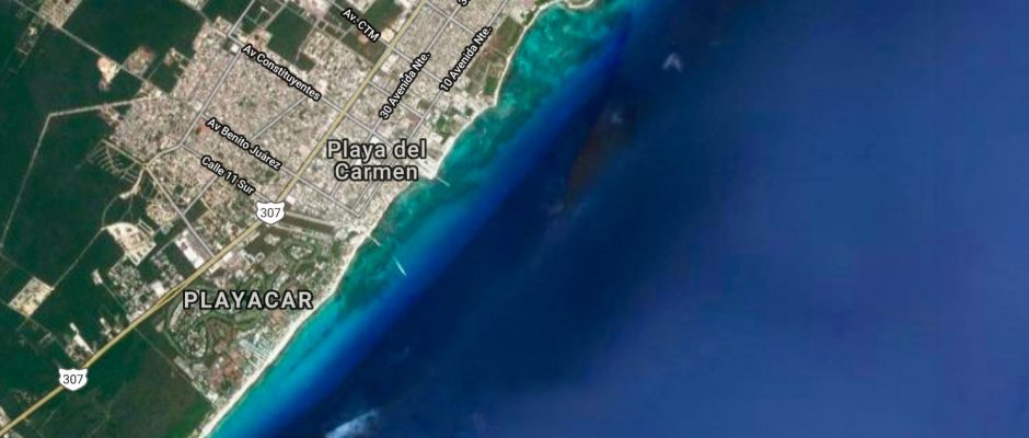 coastline of Playa Del Carmen