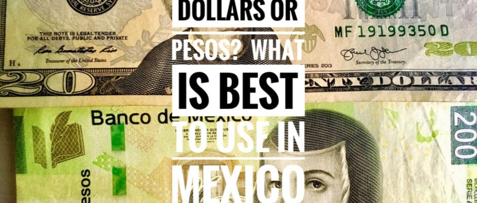 Dollars Or Pesos In Mexico