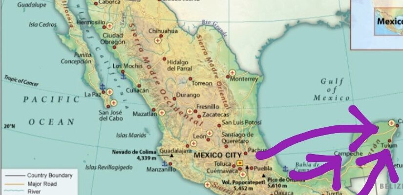 Mexico migration map